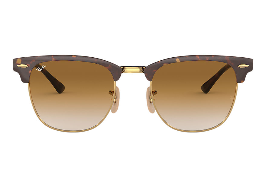 Ray-Ban CLUBMASTER METAL Tortoise avec verres Light Brown Gradient