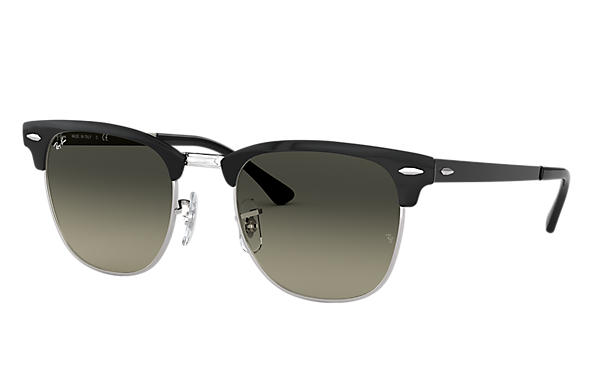 f9b029cef4 Ray-Ban Clubmaster Metal RB3716 Black - Metal - Green Lenses ...