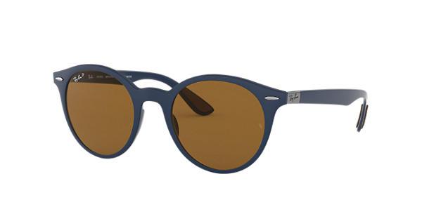 RAY BAN RAY-BAN Sonnenbrille » RB4296«, blau, 633183 - blau/braun
