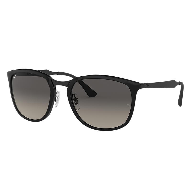 Ray-Ban Black Sunglasses, Gray Lenses - Rb4299