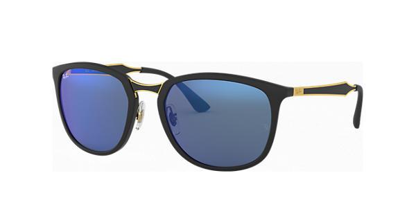 RAY BAN RAY-BAN Sonnenbrille » RB4299«, schwarz, 601S55 - schwarz/blau