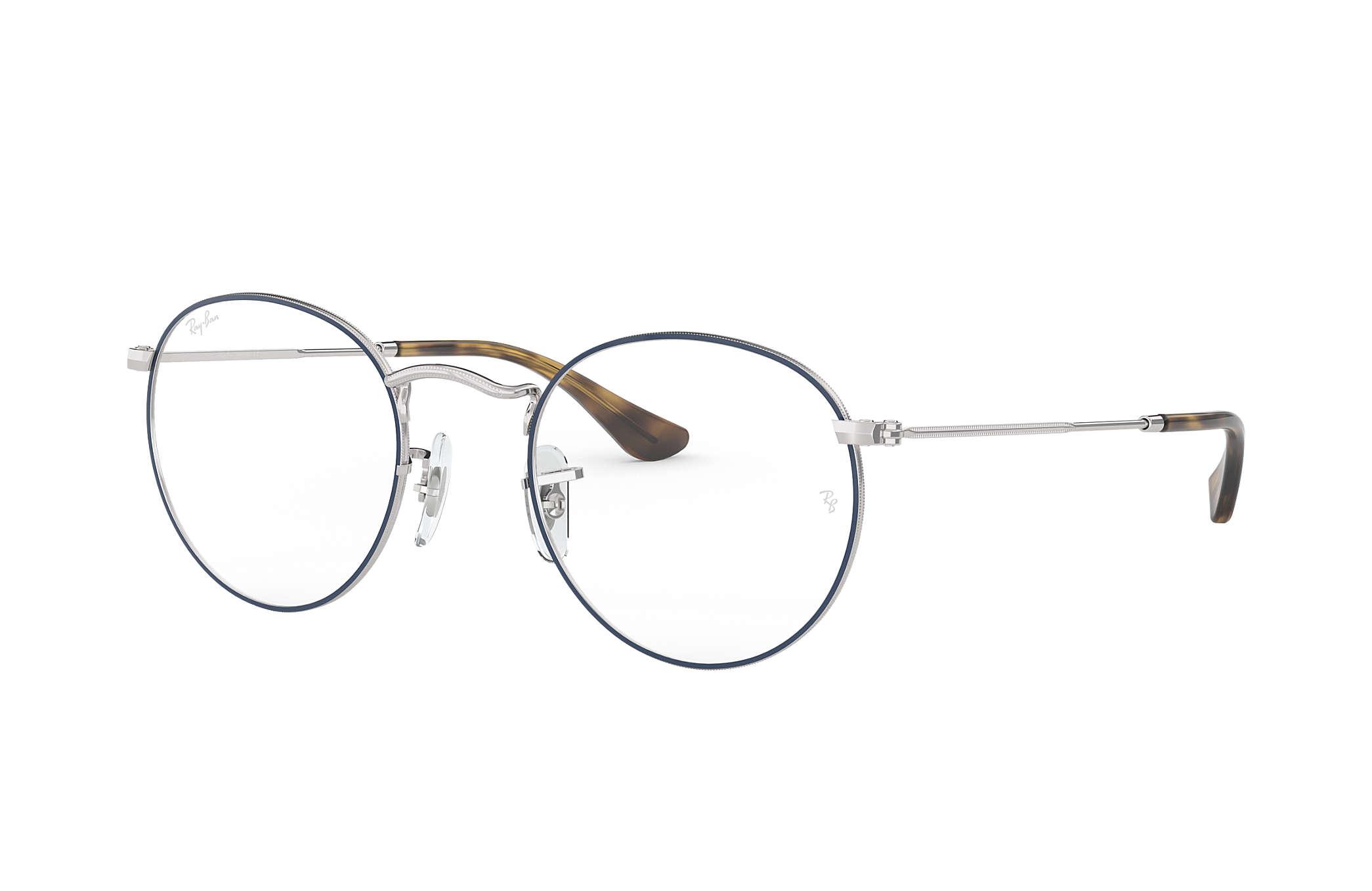 Ray-Ban prescription glasses Round Metal Optics RB3447V Blue - Metal ... e33a5da40290