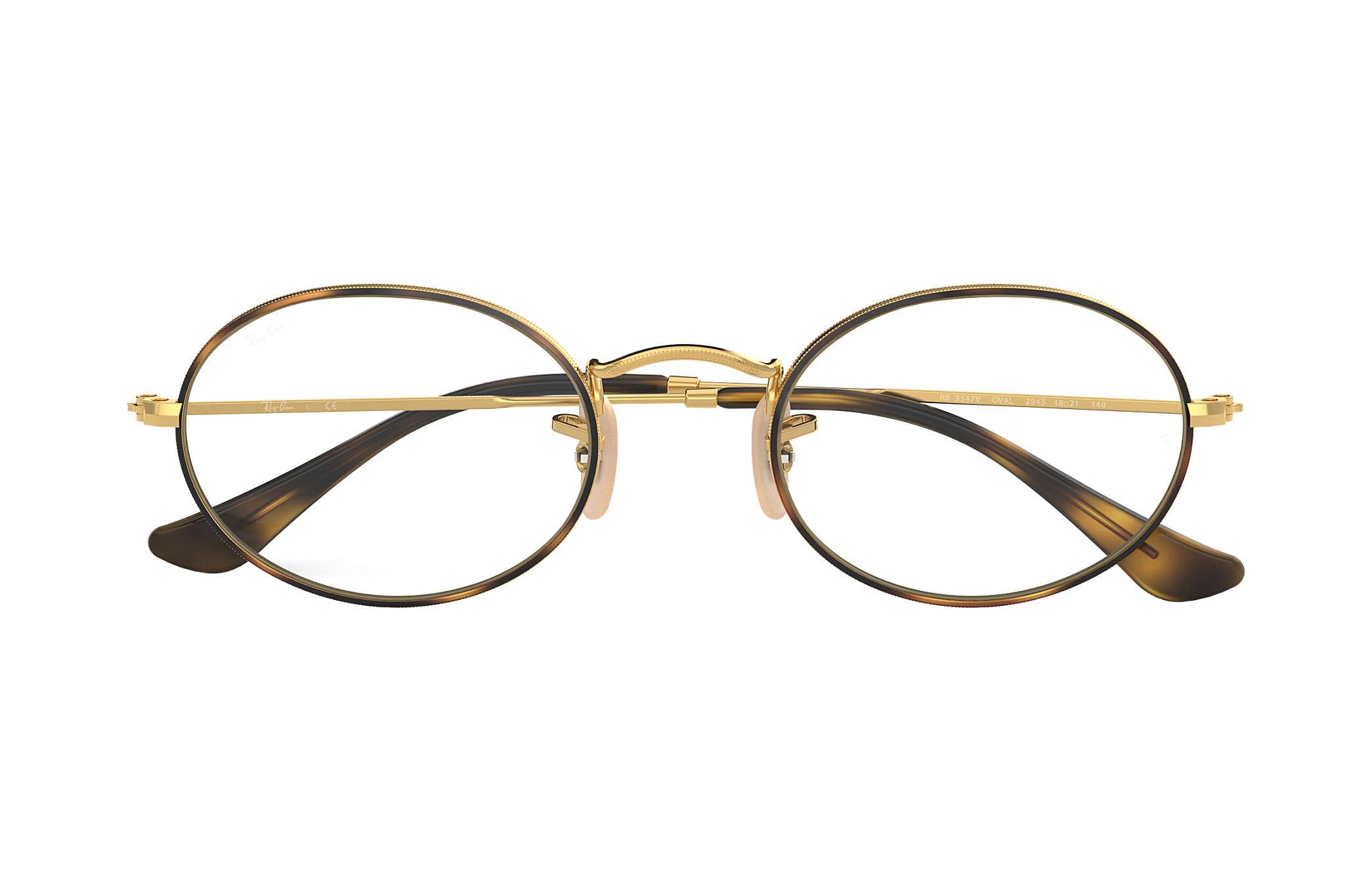 bba557685b Ray-Ban prescription glasses Oval Optics RB3547V Tortoise - Metal ...
