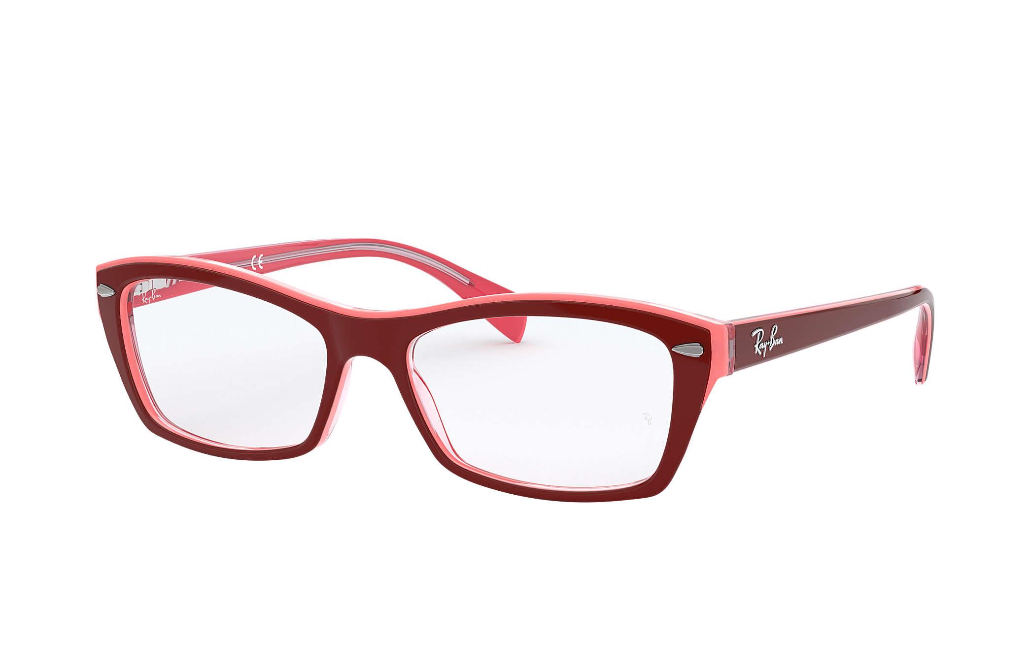 85a7f388b0e726 Okulary Ray-Ban RB5255 Czerwono-fioletowy - Acetat - 0RX5255577753 ...
