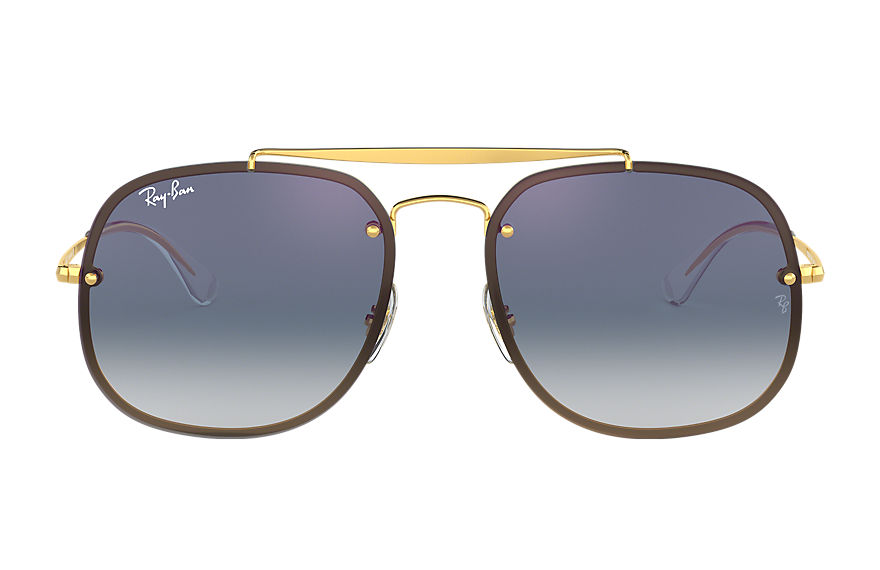 Ray-Ban BLAZE GENERAL Gold with Blue Gradient Mirror lens