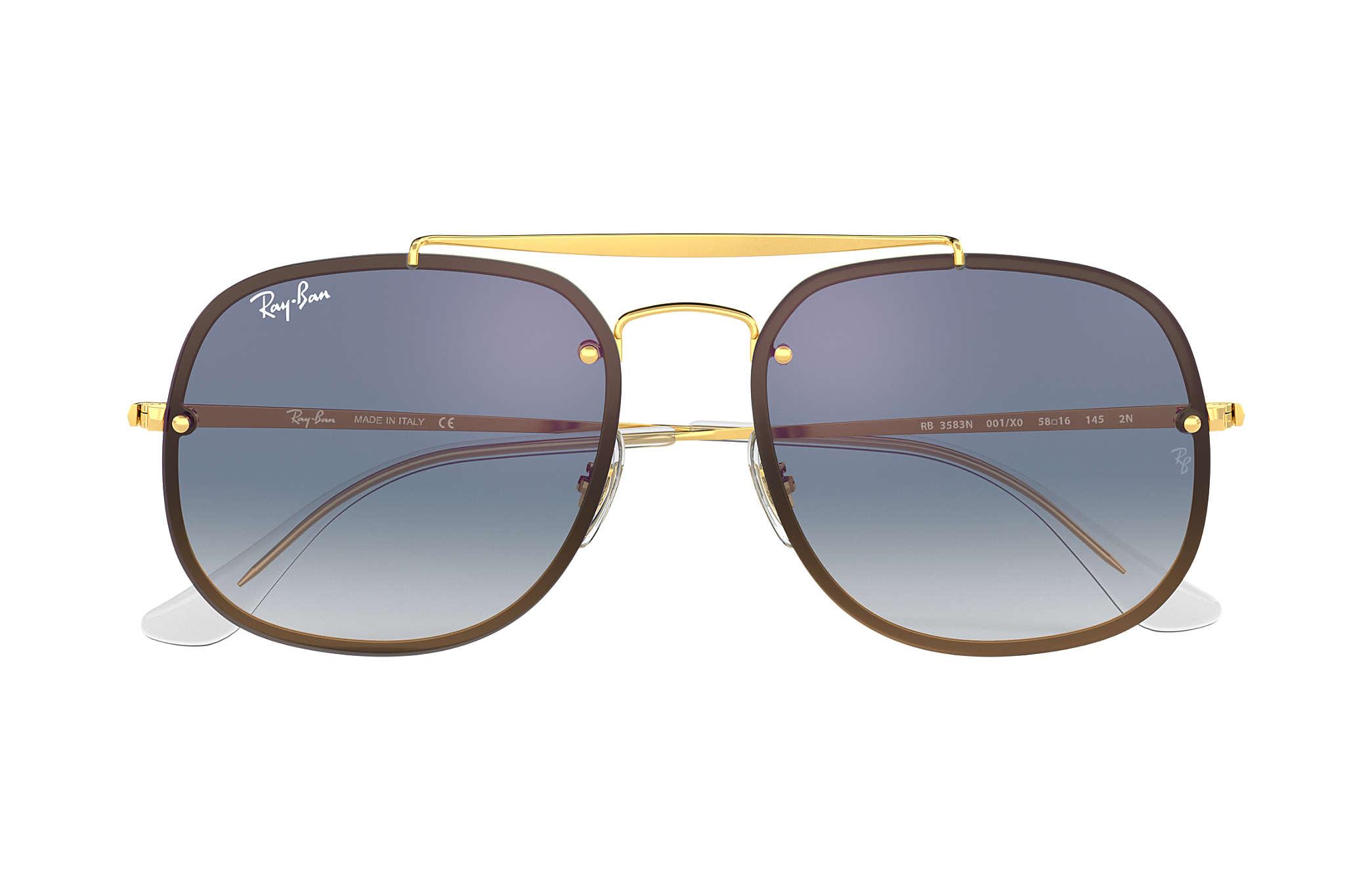 7c0f6441f7 Ray-Ban Blaze General RB3583N Gold - Steel - Blue Lenses ...