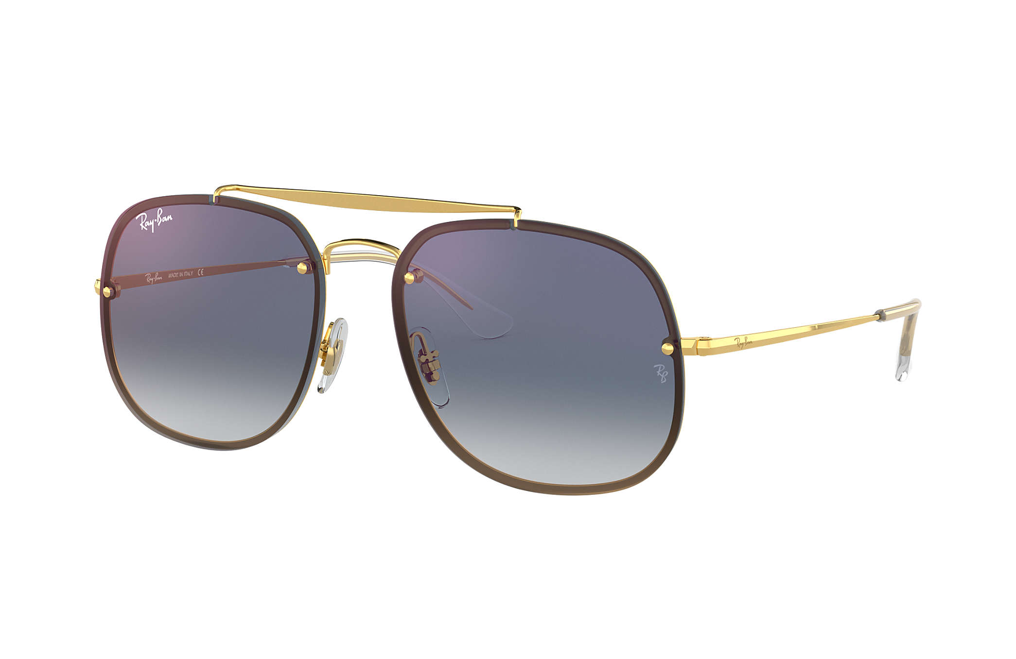 Ray-Ban RB3583N Blaze General Or Bleu Dégradé miroir cEaG1mahe4