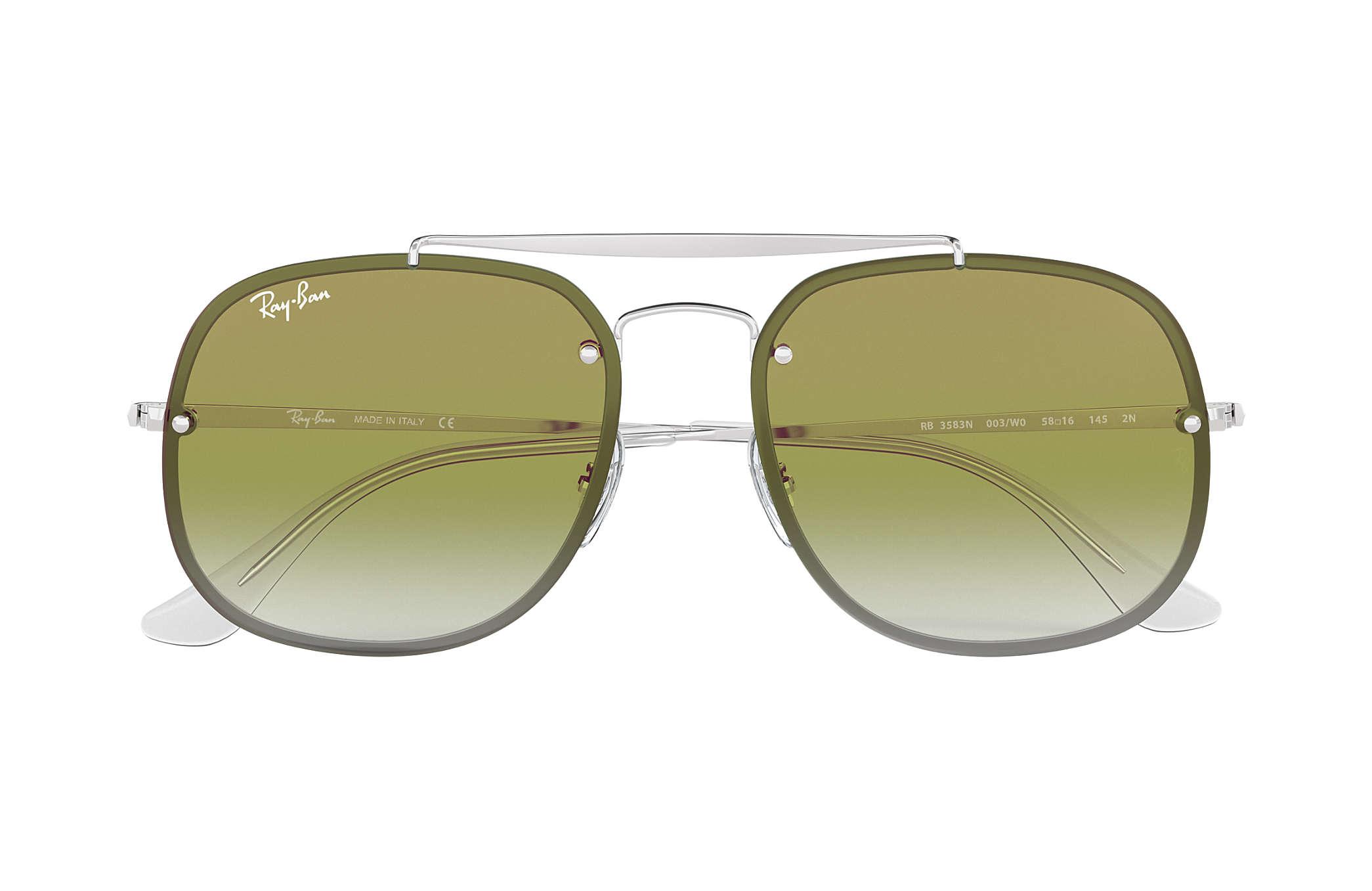 bd32641af0 Ray-Ban Blaze General RB3583N Silver - Steel - Green Lenses ...