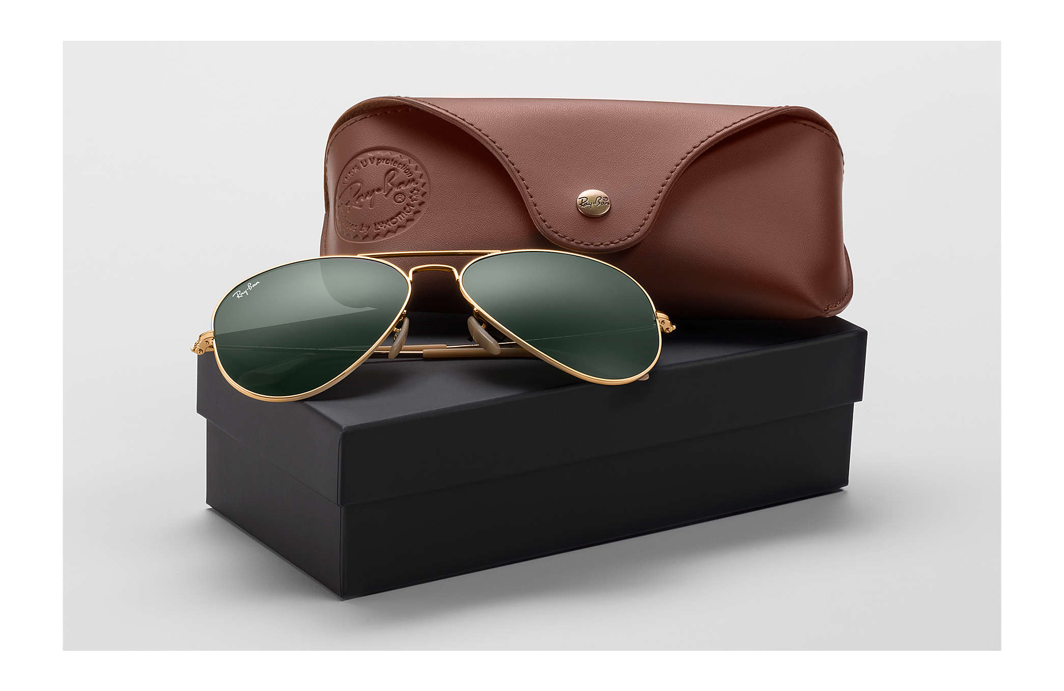 825ac9599f1bf Ray-Ban Aviator 1937 RB3025 Ouro - Metal - Lentes Verde - 0RB3025001 ...