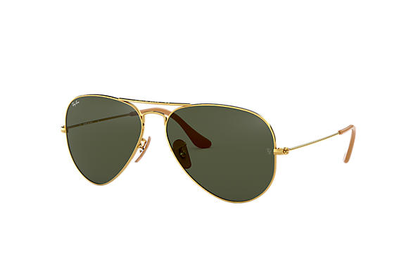Ray-Ban Sunglasses Aviator 1937 Gold with Green Classic G-15 lens