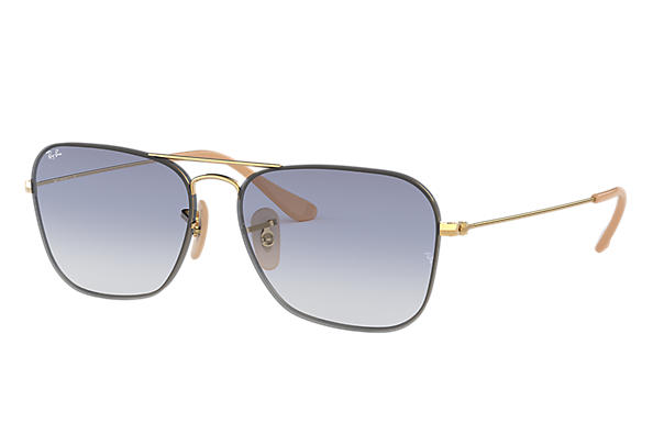 Ray-Ban Rb3603 RB3603 Ouro - Metal - Lentes Azulclaro 0RB3603001 ... 553df8c71d