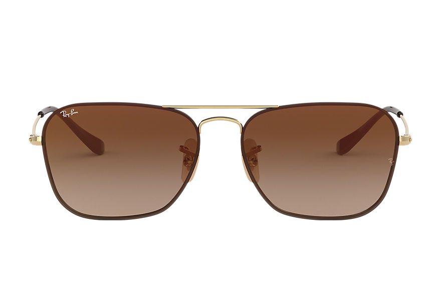 Ray-Ban Sunglasses RB3603 Gold with Brown Gradient Mirror lens