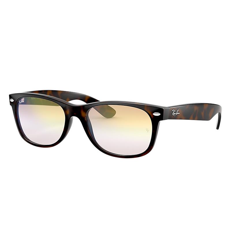 Ray-Ban New Wayfarer Blue Sunglasses, Yellow Flash
