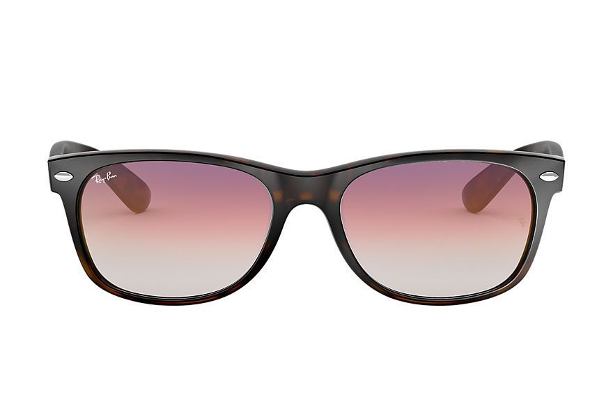 Ray-Ban NEW WAYFARER FLASH GRADIENT LENSES Havane avec verres Violet Dégradé