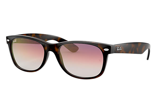 Ray-Ban		 0RB2132-NEW WAYFARER FLASH GRADIENT LENSES Schildpad SUN