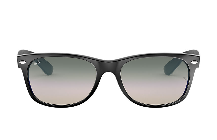 Ray-Ban Sunglasses NEW WAYFARER FLASH GRADIENT LENSES Black with Green Gradient lens