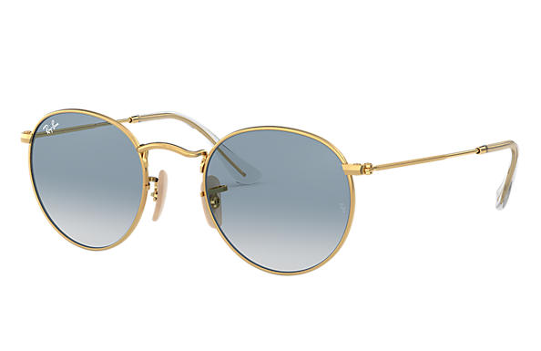 Ray-Ban 0RB3447N-ROUND FLAT LENSES Gold SUN