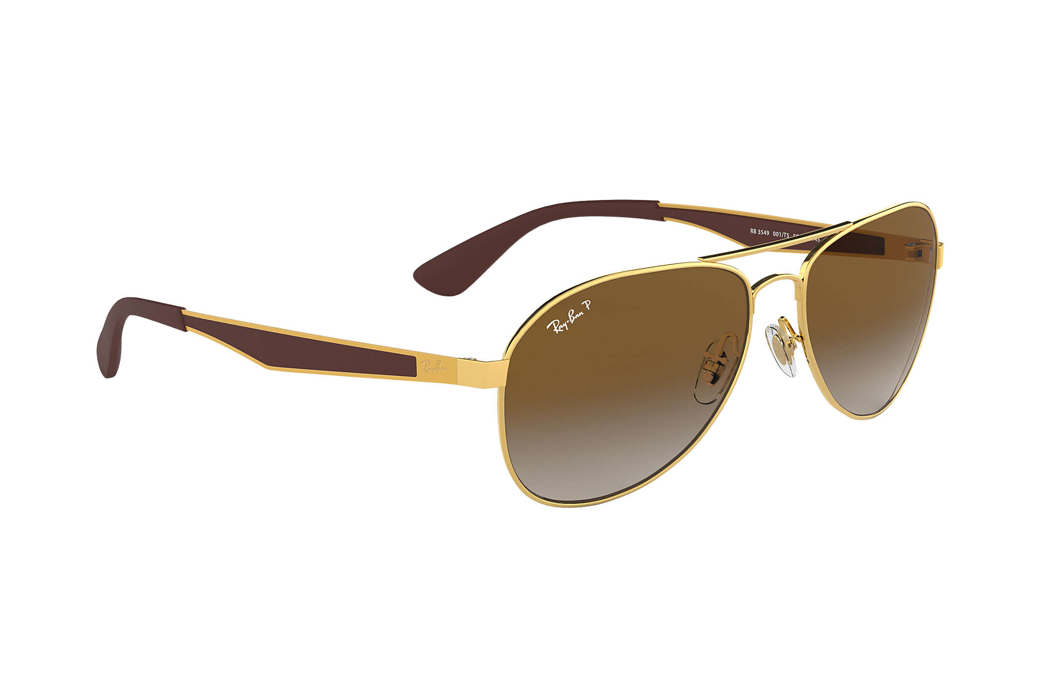 b953c5785f63c Ray-Ban RB3549 Gold - Metal - Brown Polarized Lenses - 0RB3549001 ...