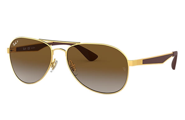 Ray-Ban Gafas-de-sol RB3549 Oro con lente Marrón Degradada