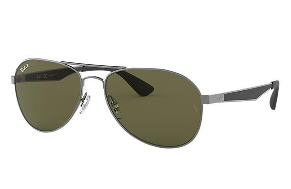 1757b419f0 Ray-Ban RB3549 Gunmetal - Metal - Green Polarized Lenses - 0RB3549004 9A58