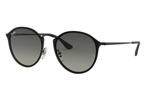 2d63492c0b Ray-Ban Blaze Round RB3574N Black - Metal - Grey Lenses ...