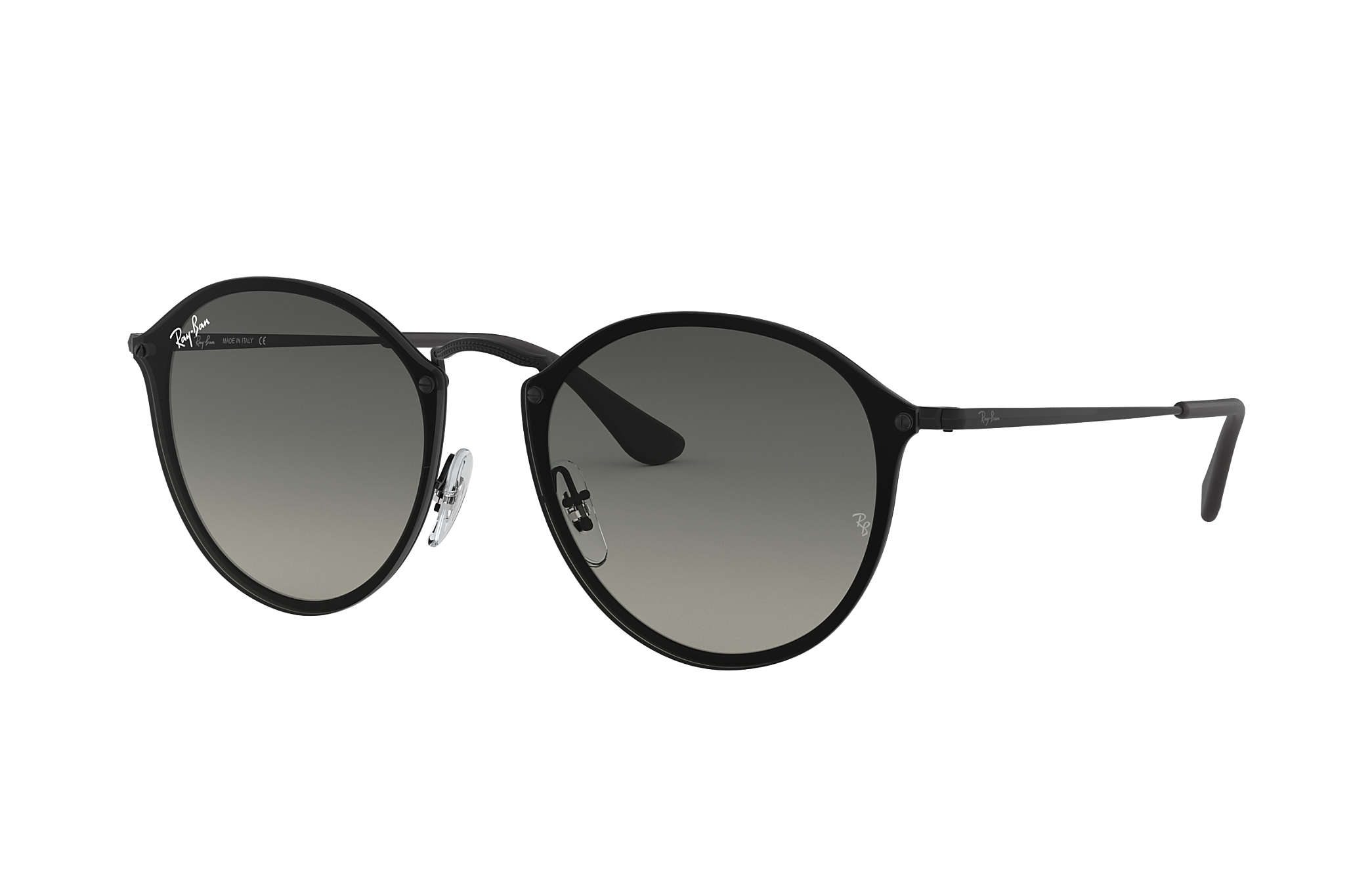 1b02f7b8b Ray-Ban Blaze Round RB3574N Black - Metal - Grey Lenses ...