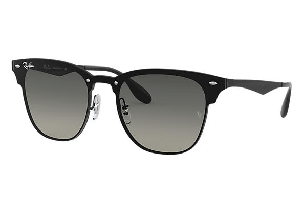 1072723e8d Ray-Ban Blaze Clubmaster RB3576N Black - Steel - Grey Lenses ...