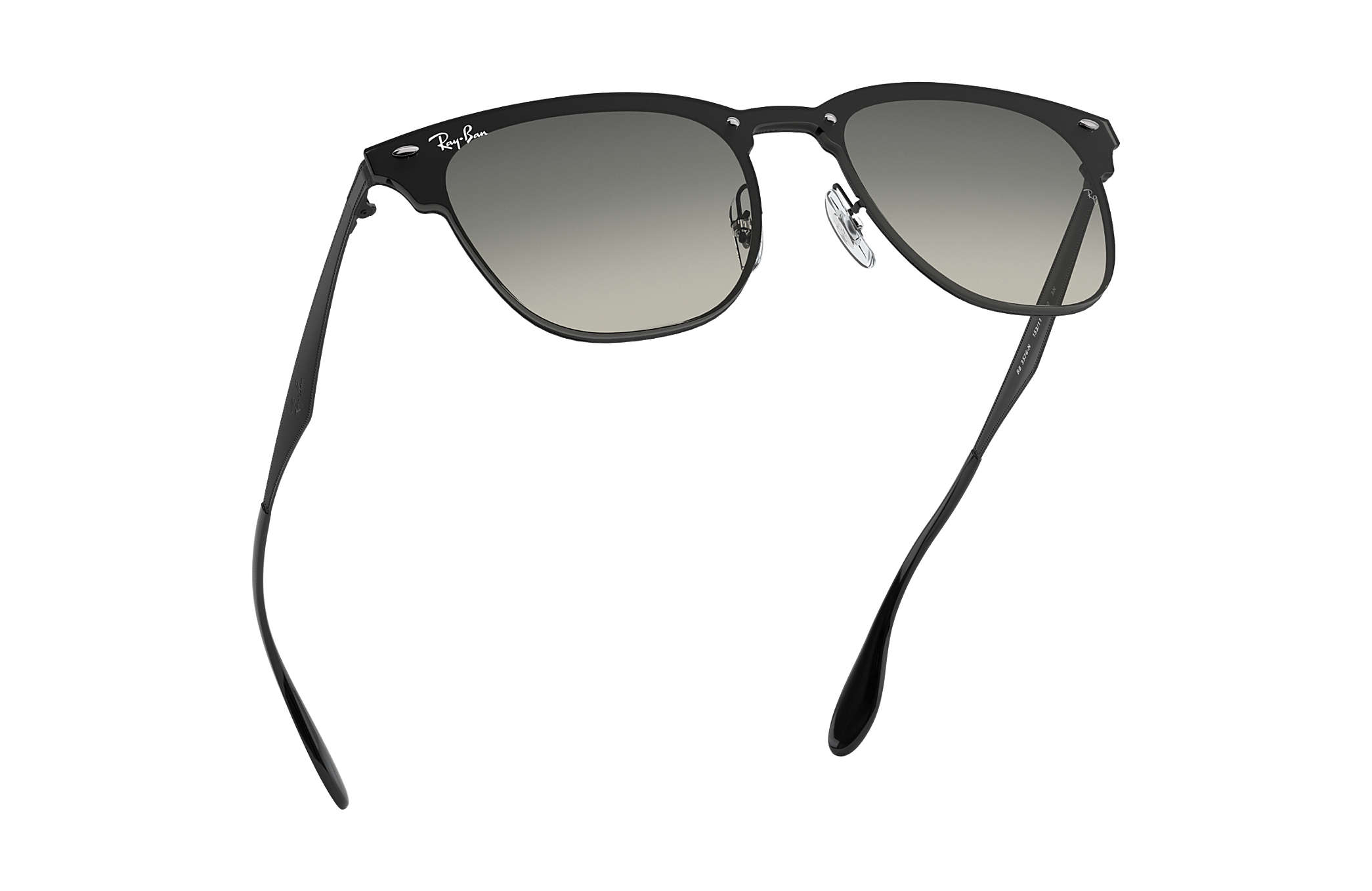 c01065020f Ray-Ban Blaze Clubmaster RB3576N Black - Steel - Grey Lenses ...