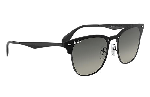 70950f108a Ray-Ban Blaze Clubmaster RB3576N Negro - Steel - Lentes Gris ...