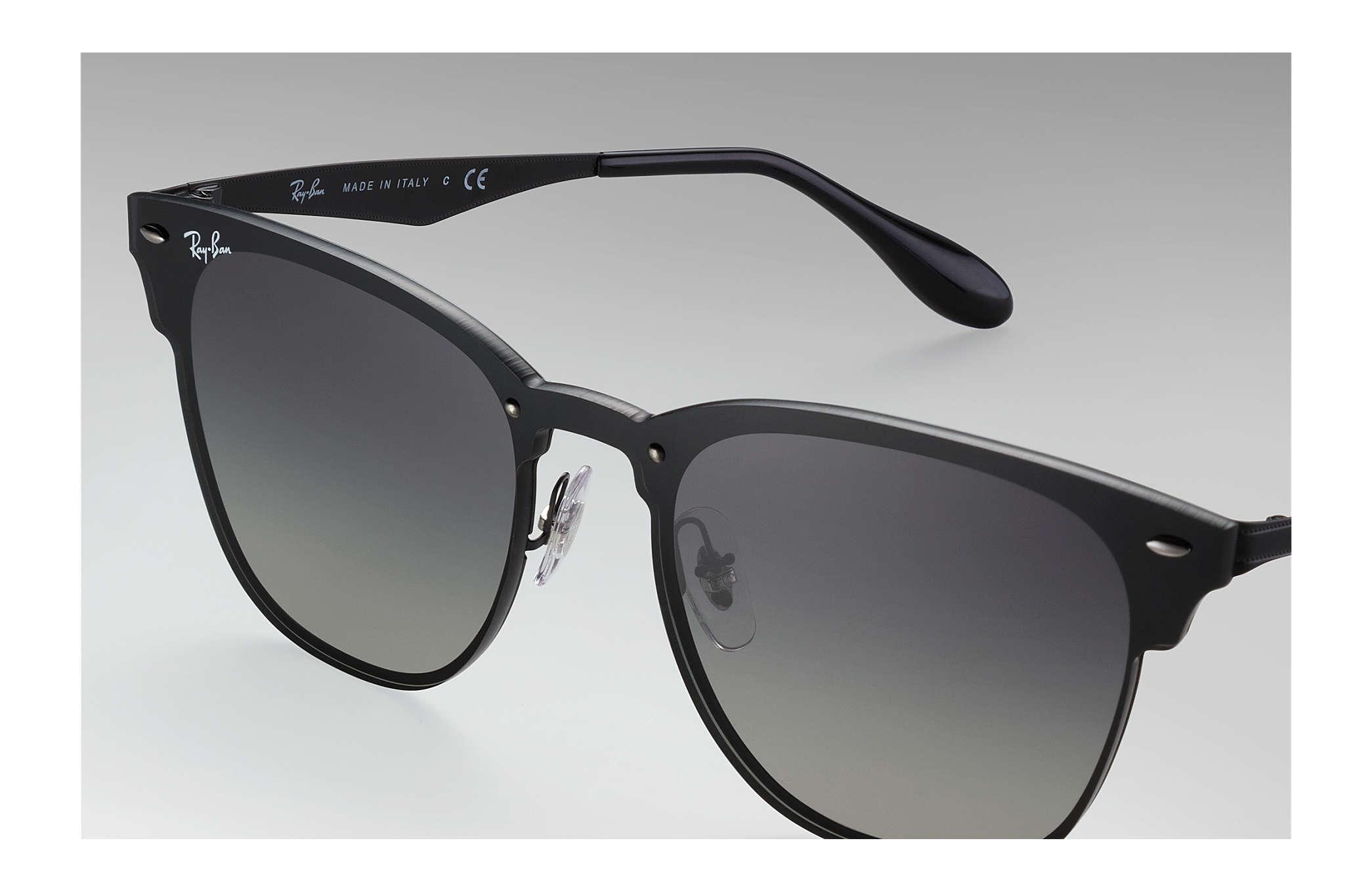 518871a743 Ray-Ban Blaze Clubmaster RB3576N Black - Steel - Grey Lenses ...