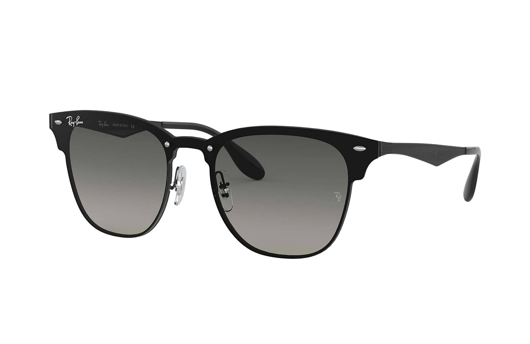 Ray Ban Herren Brillen Sonnenbrille Blaze Clubmaster, Metall, silber-grün grau