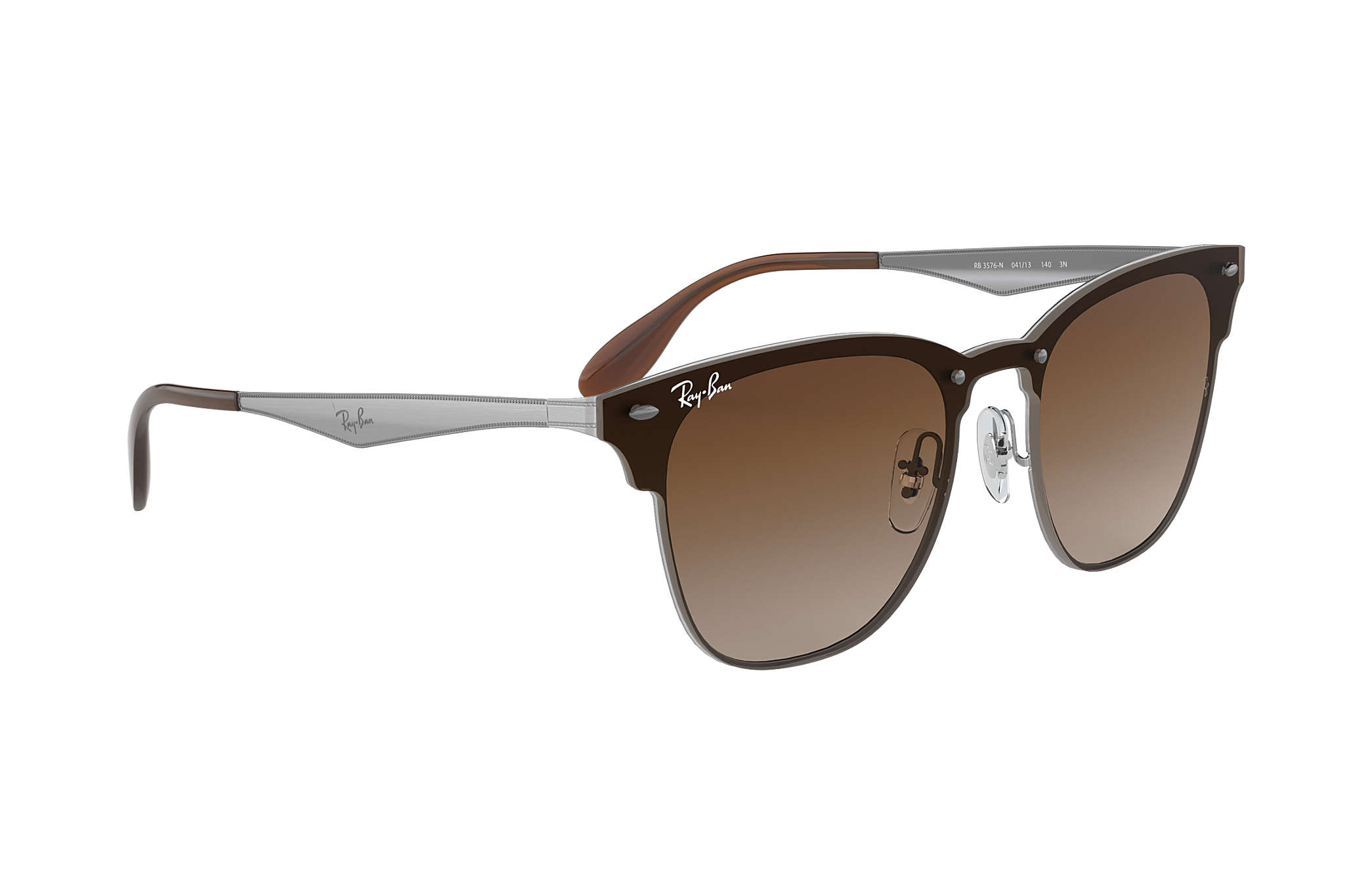 Ray-Ban Blaze Clubmaster RB3576N Gold - Steel - Blue Lenses ... d88a83588d