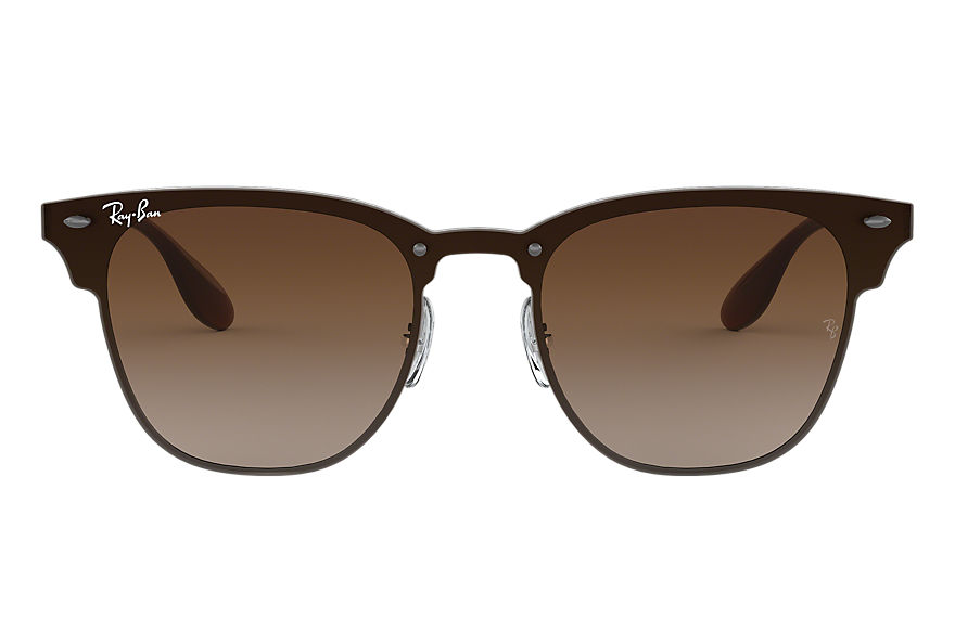 Ray-Ban BLAZE CLUBMASTER Gunmetal with Brown Gradient lens