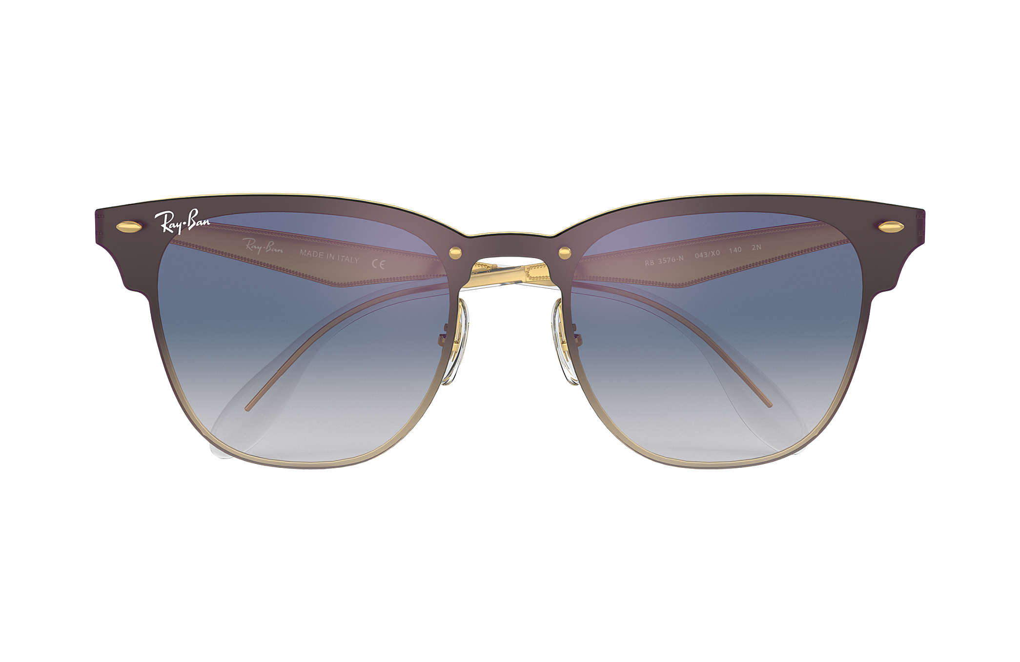 Blaze Clubmaster Ray-Ban RB3576N Or - Steel - Verres Bleu ... 93462d475ab2