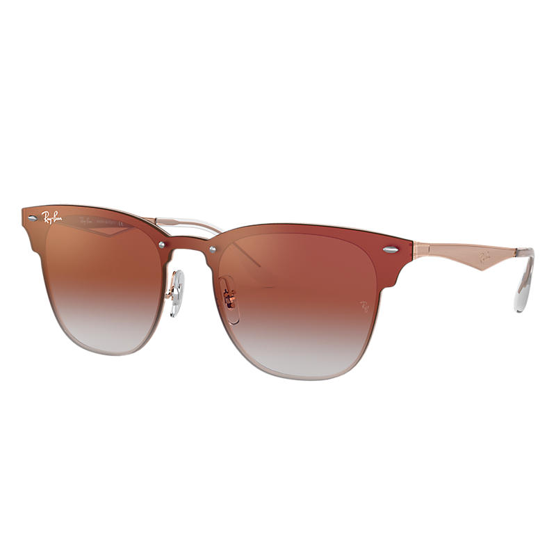 Ray-Ban Blaze Clubmaster Copper Sunglasses, Red Lenses