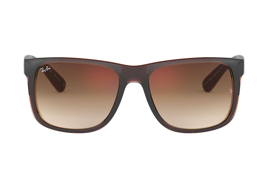 Ray-Ban		 JUSTIN FLASH GRADIENT LENSES Brown met brillenglas Brown Gradiënt Spiegel