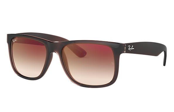 0d76819734c02 Ray-Ban Justin Flash Gradient Lenses RB4165 Marrom - Nylon - Lentes ...