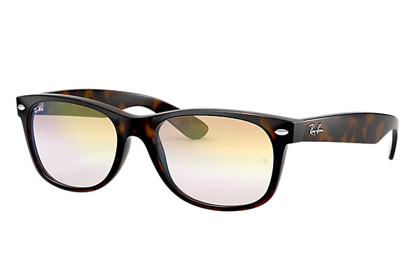 Ray-Ban Sunglasses NEW WAYFARER FLASH GRADIENT LENSES Tortoise with Gold Gradient lens