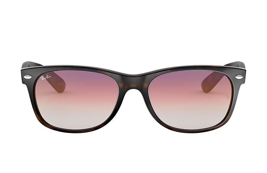 Ray-Ban  sunglasses RB2132F UNISEX 005 new wayfarer flash gradient lenses low bridge fit tortoise 8053672880731