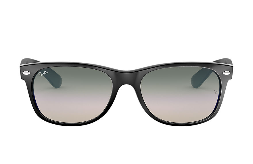 Ray-Ban Sunglasses NEW WAYFARER FLASH GRADIENT LENSES LOW BRIDGE FIT Black with Green Gradient lens