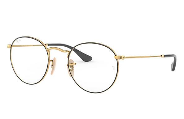 bf29db1a6 Ray-Ban eyeglasses Round Metal Optics RB3447V Gold - Metal ...