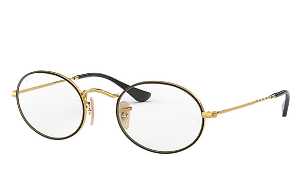 Ray-Ban 0RX3547V-OVAL OPTICS Schwarz,Gold; Gold OPTICAL
