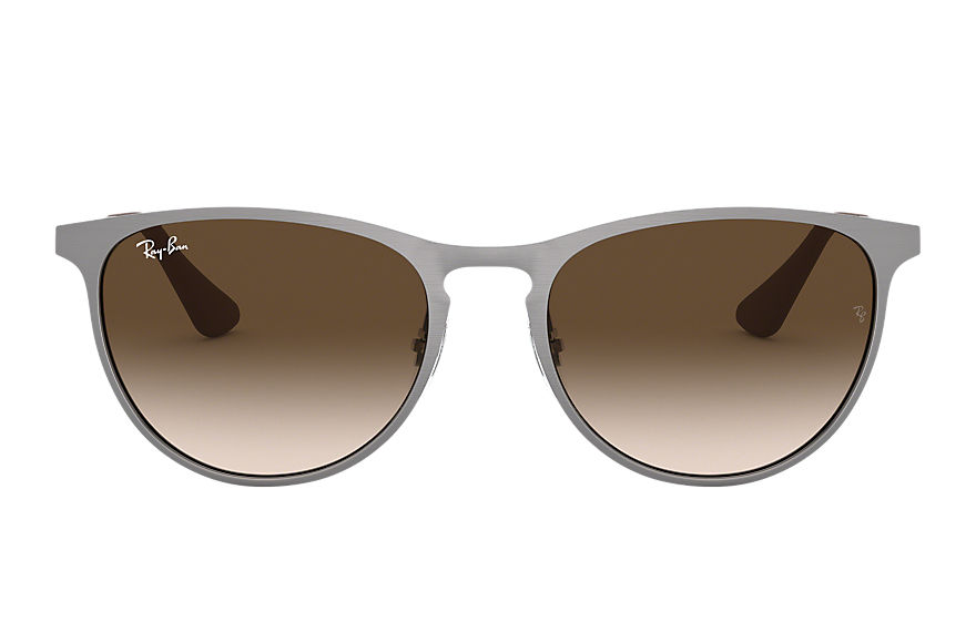 Ray-Ban ERIKA METAL JUNIOR Gunmetal with Brown Gradient lens