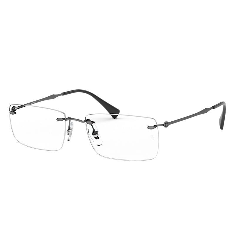 Image of Ray-Ban Gunmetal Eyeglasses - Rb8755