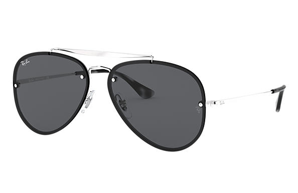 Ray-Ban Sunglasses BLAZE AVIATOR Silver with Dark Grey Classic lens