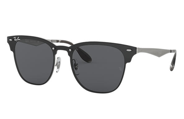 Ray-Ban Sunglasses BLAZE CLUBMASTER Silver with Dark Grey Classic lens