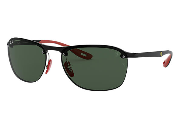 Ray-Ban 0RB4302M-SCUDERIA FERRARI COLLECTION RB4302M Black; Black,Red SUN