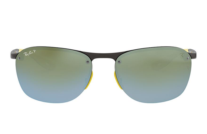 Ray-Ban RB4302M SCUDERIA FERRARI COLLECTION Gris con lente Plata Mirror Chromance