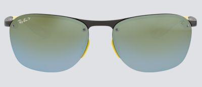 56849ac600b7ee Ray-Ban SCUDERIA FERRARI COLLECTION RB4302M Grey with Silver Mirror  Chromance lens
