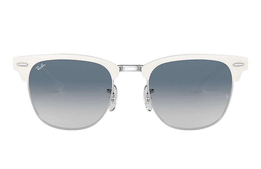 Ray-Ban  lunettes de soleil RB3716 UNISEX 005 clubmaster metal blanc 8053672887631